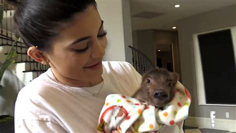 Kylie Jenner reveals story behind chicken and pig