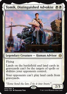 Tomik, Distinguished Advokist from War of the Spark Spoiler