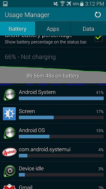 Galaxy S5 : Android System using too much battery
