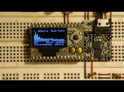 My own DIY Mp3 player with OLED screen - YouTube