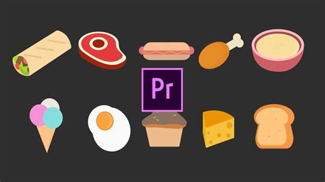 Foods Animated Icons - Motion Graphics Templates | Motion