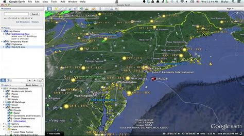 How to Track Flight Paths in Google Earth : Google