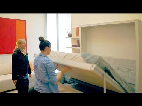 Murphy bed couch combo (Stylish Sofa in front) - YouTube