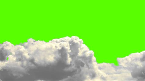 Real Clouds on a Green Screen Background - Free Royalty
