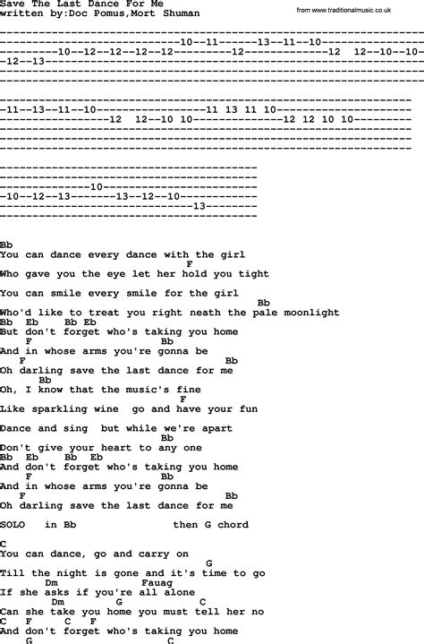 Emmylou Harris song: Save The Last Dance For Me lyrics and