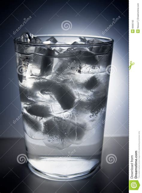 Glass Full Of Ice And Water Stock Photography - Image: 6699742