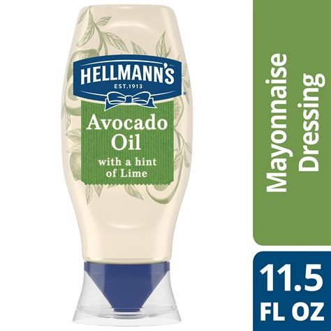 Hellmann's Squeeze Mayonnaise Dressing Avocado Oil with a
