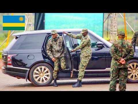 Rwanda's leader Paul Kagame pictured driving Morocco's