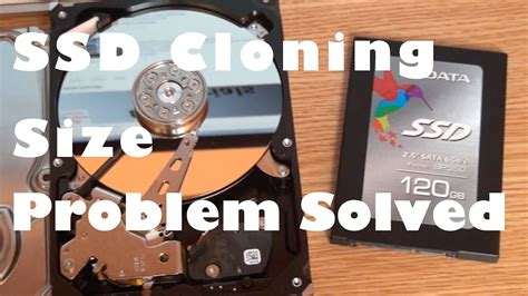 Cloning HDD to smaller SSD Size Problem Solved! - YouTube