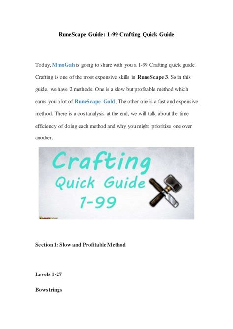 1 99 Crafting Guide Rs3 - pdfshare