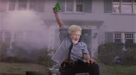 Granny With A Water Gun, Gets A Photoshop Make-Over Thanks