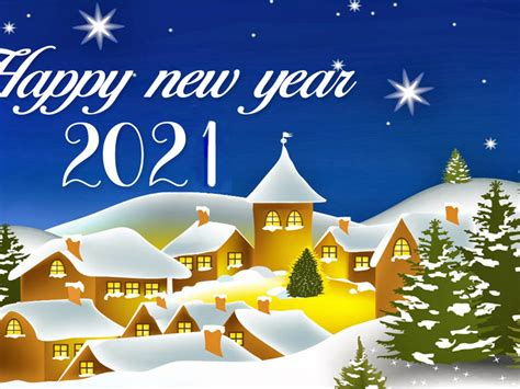 Happy New Year 2021 Best Wishes For Christmas Greetings