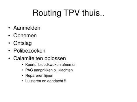PPT - Langdurig Parenterale voeding thuis PowerPoint